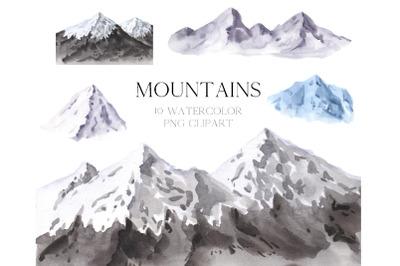 Mountain landscape clipart