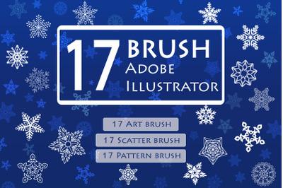 Snowflake Brushes for Adobe Illustrator