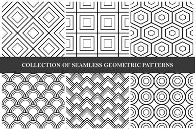 Black and white geometric patterns