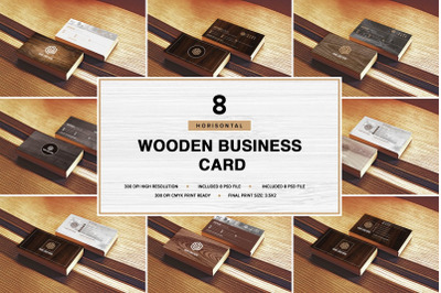 Wooden Business Card Pack [Horisont]