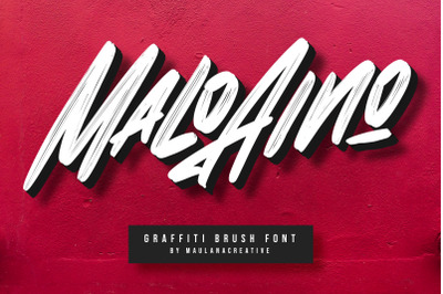 Malo Aino Graffiti Brush Font
