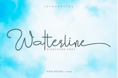 Watterline-Elegant Signature Font