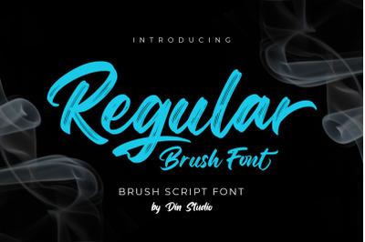 Regular Brush-Elegant Brush Font