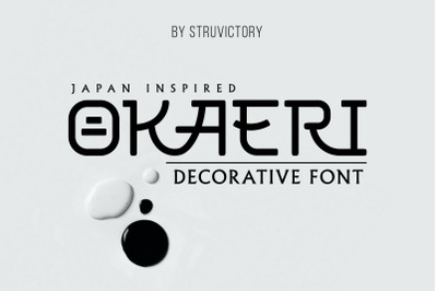Okaeri - Japan Inspired Display Font