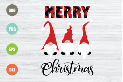 Merry Christmas Gnomes Svg