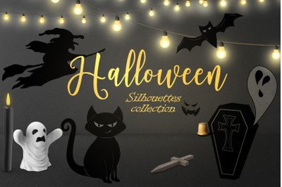 Halloween SVG collection of black silhouettes