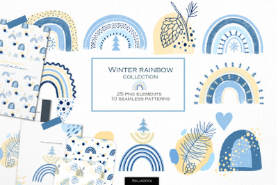 Winter rainbow collection