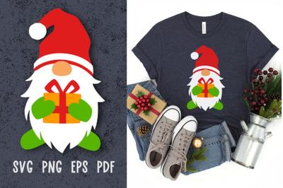 Santa gnome svg Christmas gnome svg cut files for cricut