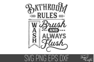 Bathroom Rules SVG Cut File | Funny Home SVG Cricut