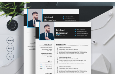 Clean & Professional Resume / CV Template