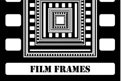 Cinematic Film Frame Template Clipart