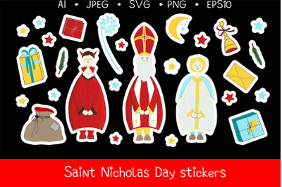 Saint Nicholas Day stickers