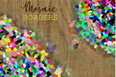 Mosaic Crystal Polygon Pattern Borders