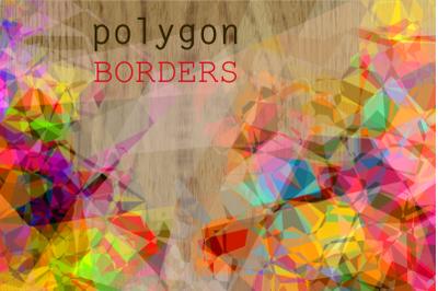 Abstract Geometric Polygon Page Borders