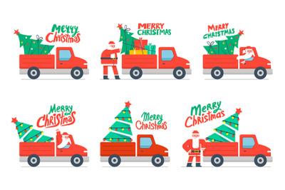 Christmas truck and Christmas tree