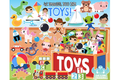 Toys Clipart - Lime and Kiwi Designs