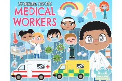 Doctors, Nurses, Paramedics, Medical Workers Clipart