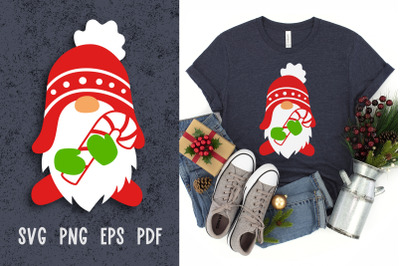 Christmas svg Christmas gnome svg files Paper cut template