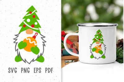Christmas mug design Christmas svg Gnome svg Sublimation designs
