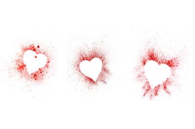 heart red splash