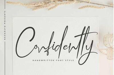 Confidently - Handwritten Script Font