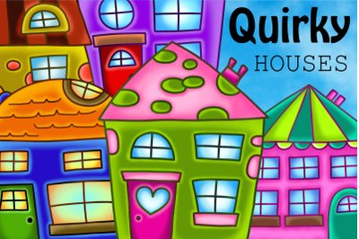 Quirky Houses Rustic Cottage Clipart