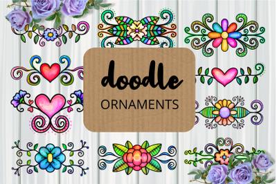 Doodle Ornamental Folk Art Flourishes
