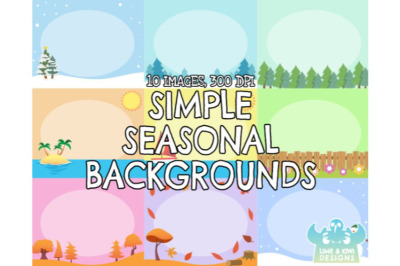 Simple Seasonal Backgrounds - Lime and Kiwi Designs