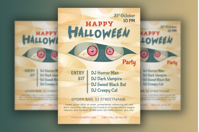 Halloween Poster With Mummy Character