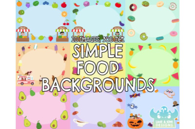 Simple Food Backgrounds - Lime and Kiwi Designs