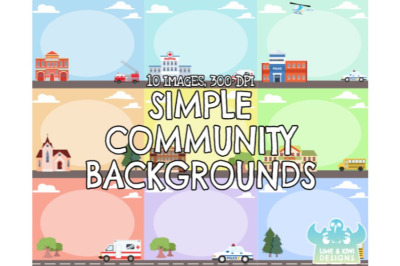 Simple Community Backgrounds - Lime and Kiwi Designs