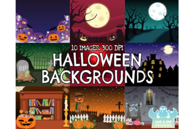 Halloween Backgrounds 1 - Lime and Kiwi Designs