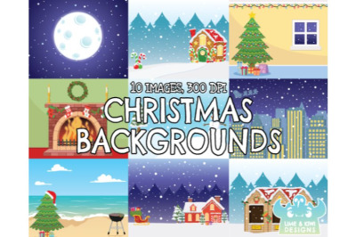 Christmas Backgrounds 1 - Lime and Kiwi Designs