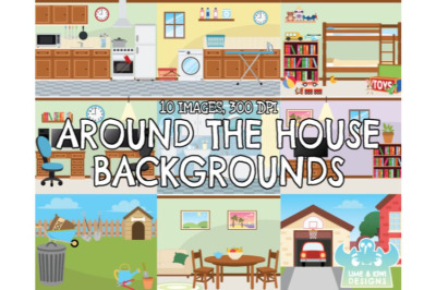 Around the House Backgrounds - Lime and Kiwi Designs