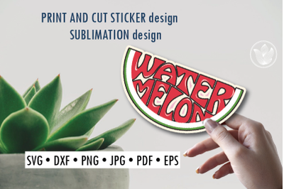 Watermelon Print and cut sticker, Sublimation design for t-shirts