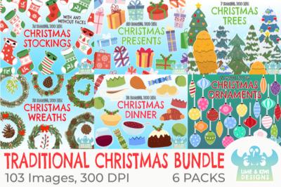 Traditional Christmas Clipart Bundle - Lime and Kiwi Designs