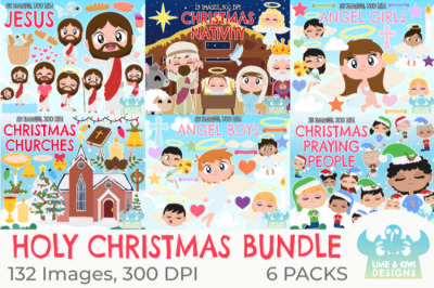 Holy Christmas Clipart Bundle - Lime and Kiwi Designs