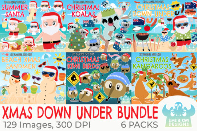 Christmas Down Under Clipart Bundle - Lime and Kiwi Designs
