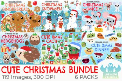 Cute Christmas Clipart Bundle - Lime and Kiwi Designs
