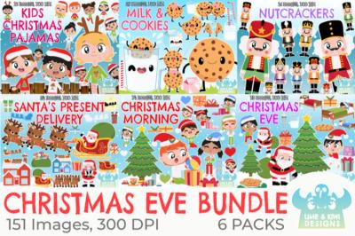 Christmas Eve Clipart Bundle - Lime and Kiwi Designs