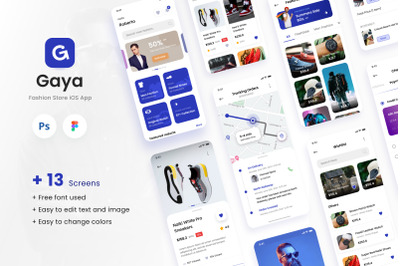 Gaya - Fashion Store iOS App Design UI Template