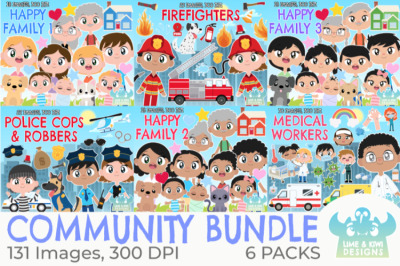 Community Clipart Bundle - Lime and Kiwi Designs