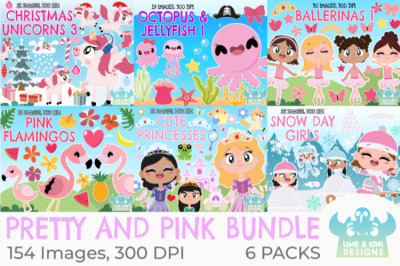 Pretty and Pink Clipart Bundle - Lime and Kiwi Designs