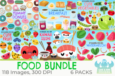 Food Clipart Bundle - Lime and Kiwi Designs