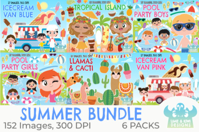 Summertime Clipart Bundle - Lime and Kiwi Designs