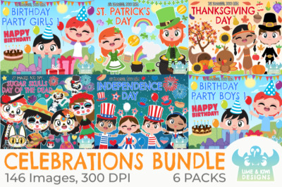 Celebrations Clipart Bundle - Lime and Kiwi Designs