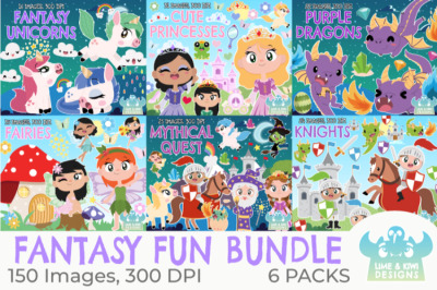 Fantasy Clipart Bundle - Lime and Kiwi Designs
