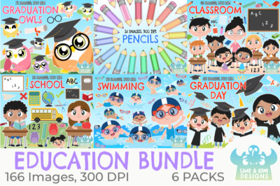Education Clipart Bundle - Lime and Kiwi Designs