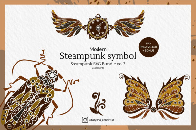 Modern Steampunk Symbol, Steampunk SVG Bundle vol.2