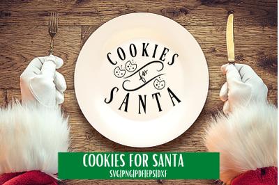 Cookies For Santa SVG